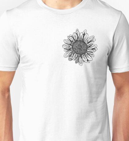 Sunflower sketch Unisex T-Shirt