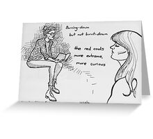 Reportage Sketch: Vanilla Sex Magazine Poetry & Prose at Goodyear 12-18-16 Greeting Card
