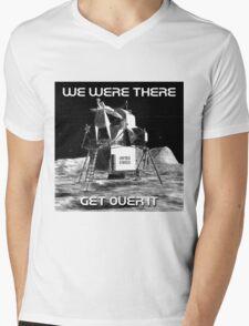 Moon Landing Design Mens V-Neck T-Shirt