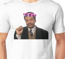 Flower Crown Neil Degrasse Tyson Unisex T-Shirt