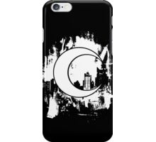 Moon Knight city-scape White iPhone Case/Skin
