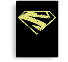 Supergirl New52 distressed pale gold Canvas Print