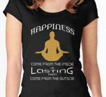 Happiness comes from inside Women's Fitted Scoop T-Shirt