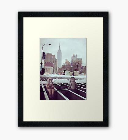lonely eskimos - empire state building Framed Print