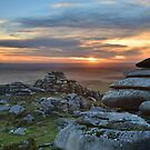 Cornwall: Sunset on Roughtor by Rob Parsons