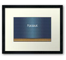 FUNHAUS - logo design  Framed Print
