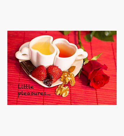 Little Pleasures - Sweet, Moment, Red, Love Photographic Print