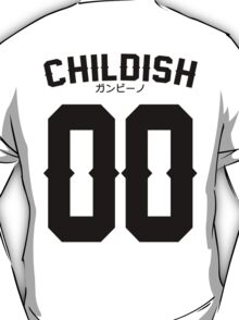 Childish Jersey v2: Black T-Shirt