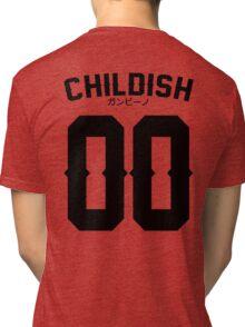 Childish Jersey v2: Black Tri-blend T-Shirt
