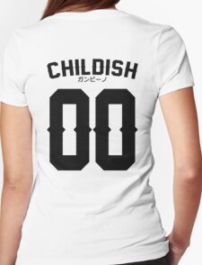 Childish Jersey v2: Black Womens Fitted T-Shirt