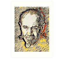 George Carlin Abstract Portrait Art Print