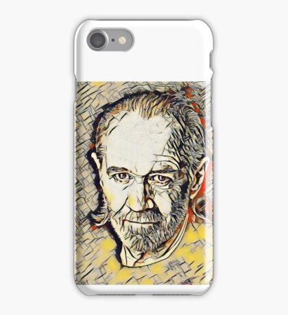 George Carlin Abstract Portrait iPhone Case/Skin