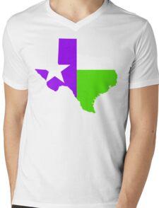 Texas Trill | Purple Green | Flagstate Mens V-Neck T-Shirt