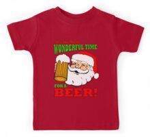 Christmas It's the Most Wonderful Time for a Beer Kids Tee