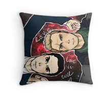 MorMor Love is EVIL Throw Pillow