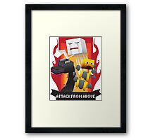 Attack from Above Framed Print