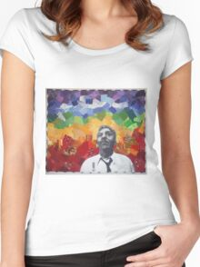 Bayard Rustin Presidential Medal of Freedom Women's Fitted Scoop T-Shirt