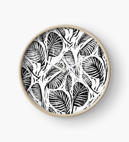 Jungle - Tropical leaves Clock
