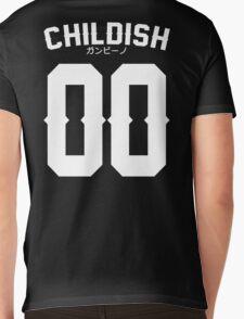 Childish Jersey v2: White Mens V-Neck T-Shirt