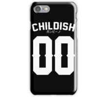 Childish Jersey v2: White iPhone Case/Skin