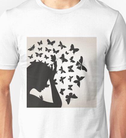 Butterflies from a head4 Unisex T-Shirt
