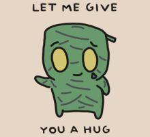 "Amumu - ""LET ME GIVE YOU A  HUG"" - BLACK TEXT/LIGHT SHIRTS by baconpiece"