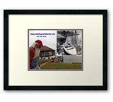 Protecting our Indian river then now always Framed Print