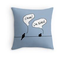 Two Birds on a Wire Throw Pillow