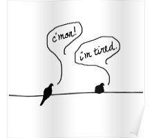 Two Birds on a Wire Poster