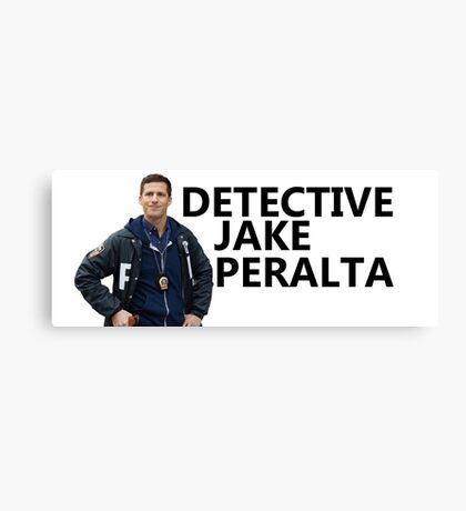 peralta trying to be serious w/words 2 Canvas Print