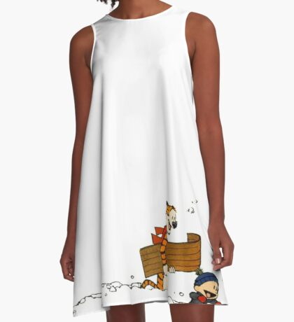 Calvin and Hobbes It's a Magical World A-Line Dress