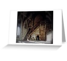 Inside Stokesay (1) Greeting Card