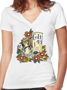 Jeff Spicoli's Original Colt 45 - HD Colt Women's Fitted V-Neck T-Shirt