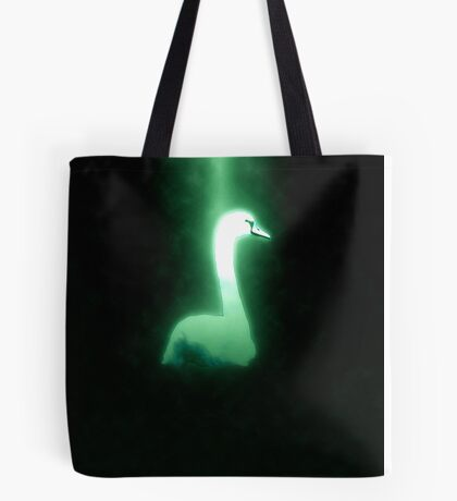 white swan swimming Tote Bag