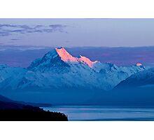 Aoraki Dawn - Sunrise at Mount Cook Photographic Print