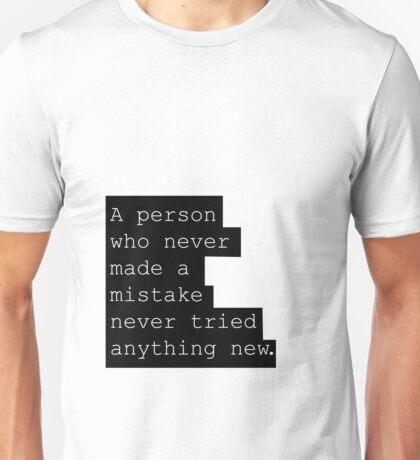 Albert Einstein quote Scandinavian inspired Poster Wall art Typography art Gift, Home Decor Quote print Unisex T-Shirt