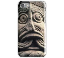 Face with split tongue on Saxon door framing Church Kilpeck England 19840517 0013 iPhone Case/Skin