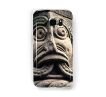 Face with split tongue on Saxon door framing Church Kilpeck England 19840517 0013 Samsung Galaxy Case/Skin
