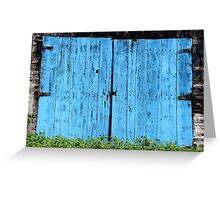 heavy blue in the alley Greeting Card