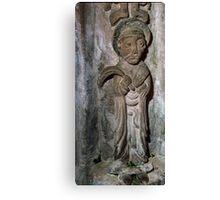 Wall statuary Saxon Church Kilpeck England 19840517 0022 Canvas Print