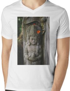 And in the lines of carved stone one will never age. Mens V-Neck T-Shirt