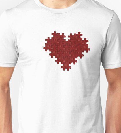 Puzzle Heart Unisex T-Shirt