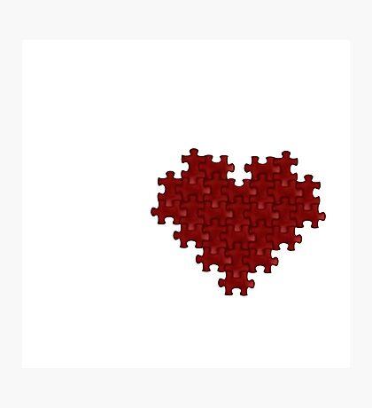 Puzzle Heart Photographic Print