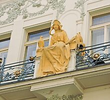 Statue of Princess Libuse, Prague, Czech Republic by Margaret  Hyde