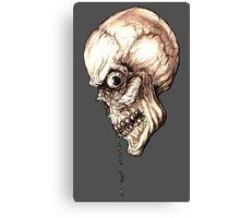 CREEPY SKULL TRANSPARENT Canvas Print