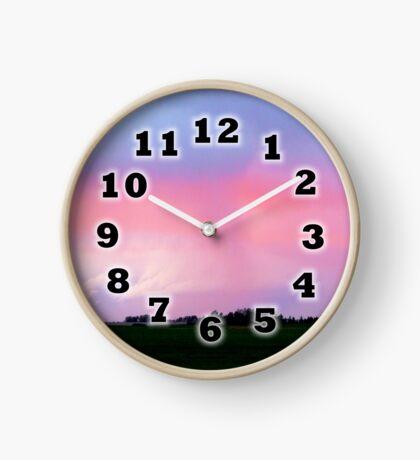 pastel sunset Clock