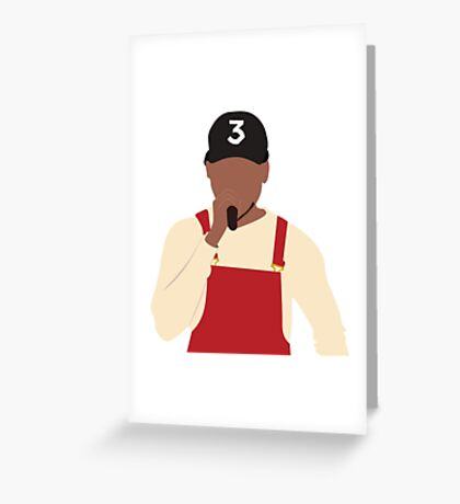 Chance the Rapper - SNL Performance Greeting Card