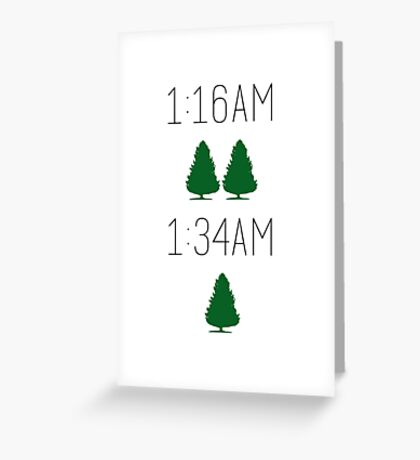 Twin Pines Mall/Lone Pine Mall Greeting Card