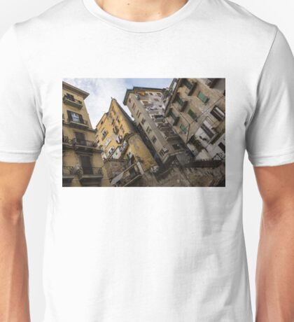 Skyward in Naples Italy - Spanish Quarters Take Four Unisex T-Shirt