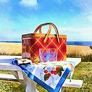 Summer Picnic Acrylic by Edward Fielding